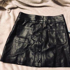 H&M Divided Leather Mini Skirt
